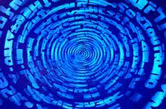 Data information teleport swirl illustration background Stock Illustration