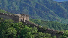 Great Wall of beacon towers Stock Footage