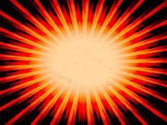 Radial orange sun rays abstract lowres background illustration - stock illustration