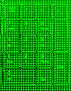 Vertical green matrix keypad abstraction backdrop Stock Illustration