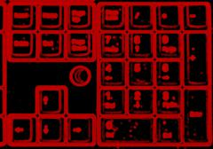 Horizontal red blurred interlaced keyboard background Stock Illustration