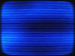Horizontal vintage blue interlaced tv screen abstraction backgro Stock Illustration