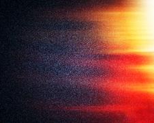 Horizontal space stars galaxies with sun light leak background - stock illustration
