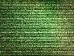 Horizontal green noise interlaced screen background - stock illustration