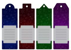 Vector Price label, tag. Winter sale. Eps 10. - stock illustration