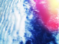 Horizontal dramatic atmospheric front with light leak background Stock Photos