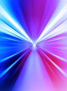 Pink and purple abstract teleport tunnel motion blur background Stock Illustration