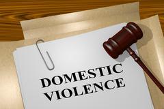 Domestic Violence concept - stock illustration