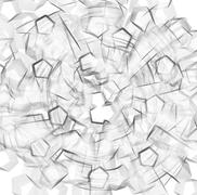 Black and white outline abstraction backdrop - stock photo