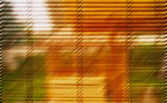Warm and vivid shutter abstraction - stock photo