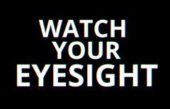 Watch your eyesight chromatic aberration illustration background - stock illustration