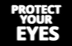Black and white protect your eyes illustration background - stock illustration