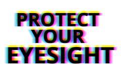 Protect your eyesight illustration backdrop - stock illustration