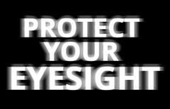 Black and white protect your eyesight illustration backdrop - stock illustration
