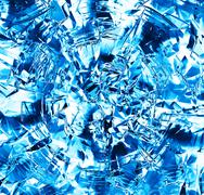 Square blue frozen ice block abstraction backdrop Stock Illustration