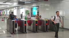 Shenzhen Metro Station Stock Footage