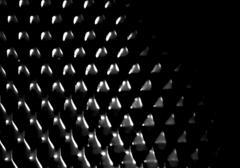 Horizontal black and white glowing carbon illustration Stock Illustration