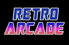 Horizontal retro arcade text illustration background Stock Illustration