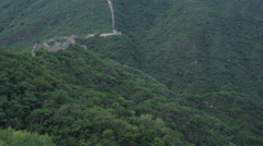 Great Wall and forest Stock Footage