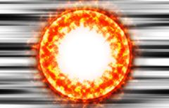 Burning sun protuberance coronas illustration background Stock Photos
