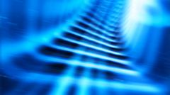 Diagonal blue teleport tunnel motion blur abstraction backddrop - stock illustration