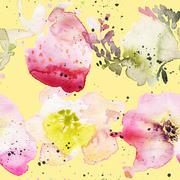 Seamless pattern of cherry watercolor Stock Illustration