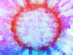 Vivid painted sun backdrop - stock illustration