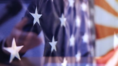 The President of USA,campaign election Stock Footage