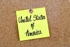 Written text United States Of America - stock photo