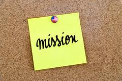 Written text Mission Stock Photos