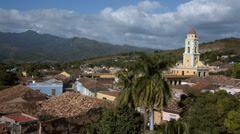 Establishing shoot in the town of Trinidad on Cuba Stock Footage