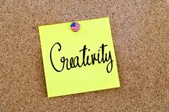 Written text Creativity over yellow paper note - stock photo