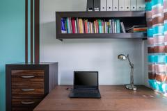 Functional and stylish home workspace - stock photo
