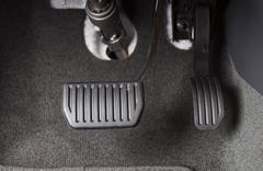 Brake and accelerator pedal Stock Photos