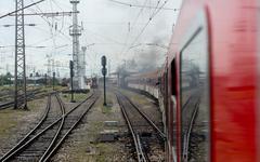 Steam locomotive 46.03 of Bulgarian national railway company (BDZ), the large Stock Photos