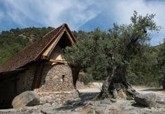 Saint Paraskevi  Church at the village of Askas in Cyprus Stock Photos