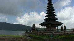Ulun Danu temple, lake Beratan, Bali Stock Footage