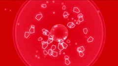 4k Abstract scifi polygon space,microbes bacteria spores particles explosion. Stock Footage