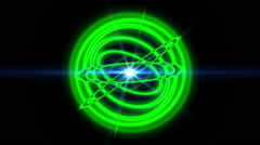 Atom orbit abstract Stock Footage