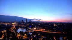 4K Time Lapse of Vilnius City at Night Stock Footage