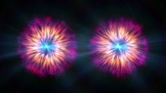 Eyes abstract galaxy Stock Footage
