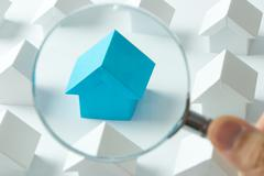Choosing right house Stock Photos