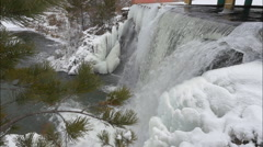 Falls in the winter Stock Footage