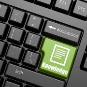 Computer keyboard with word knowledge Stock Illustration
