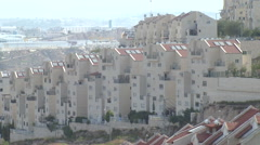 Residential buildings in Efrat, a Jewish settlement in the West Bank Stock Footage