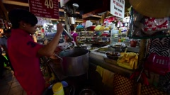Ben Thanh Market is biggest market and attraction in Ho Chi Minh City Stock Footage