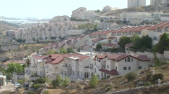 Residentual buildings in the Jewish West Bank settlement Efrat - stock footage