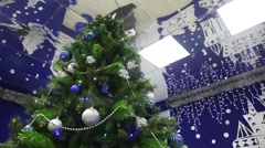 Christmas decoration FIR Santa Claus Stock Footage