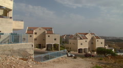 New buildings in Efrat, a Jewish settlement in the West Bank Stock Footage