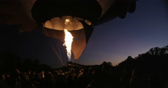 Slow motion pre dawn balloons at the Canberra Balloon Festival Stock Footage
